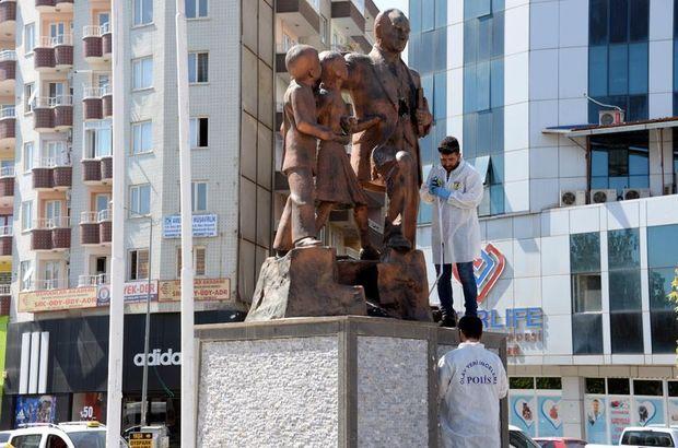 Diyarbakır'da Atatürk Anıtı'na çekiçli saldırı