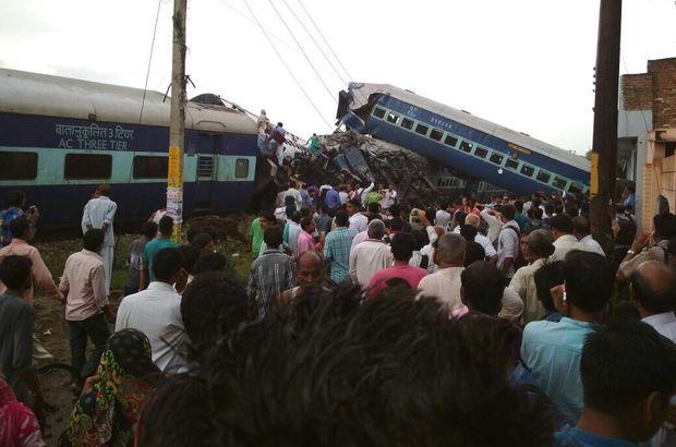 Son dakika Hindistan'da tren raydan çıktı! En az 10 ölü