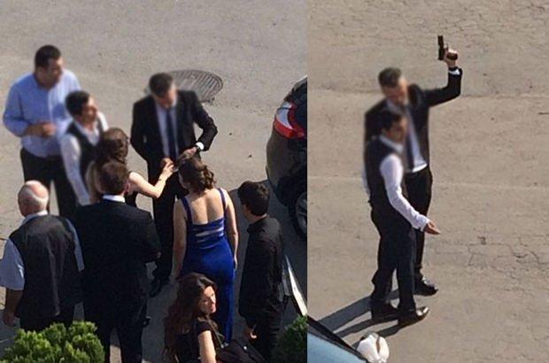 Bursa'da düğünde polis olduğu söylenen kişi havaya ateş açtı