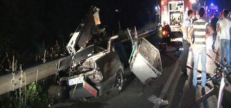 İstanbul Beykoz'da feci kaza: 2 ölü, 1 yaralı