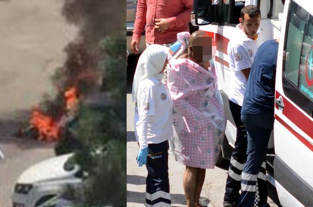 Kayseri'de üzerine benzin döken kişi kendini yaktı