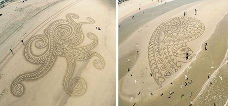 Kumdan sanat eseri çıkaran sanatçı: Tim Hoekstra