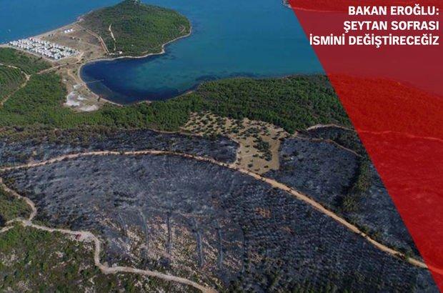 Bakan Eroğlu'ndan Ayvalık'taki yangın için 'sabotaj' açıklaması