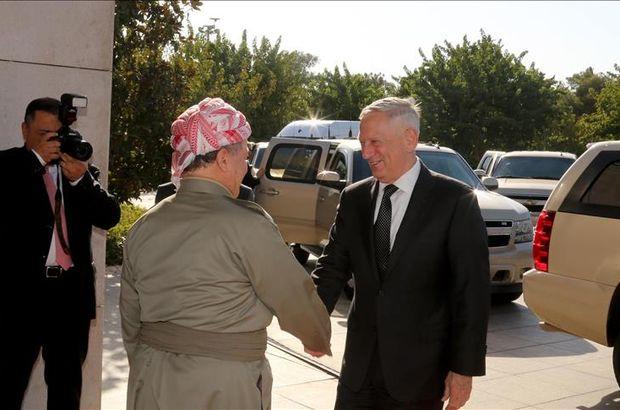 ABD Savunma BakanıJames Mattis, Mesut Barzani'yi ziyaretetti