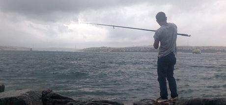 İstanbul'da sağanak balıkçılara yaradı