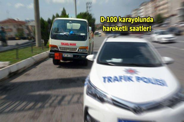Yakıt yüklü tankerin sürücüsünden polise 'duramıyorum' telefonu!