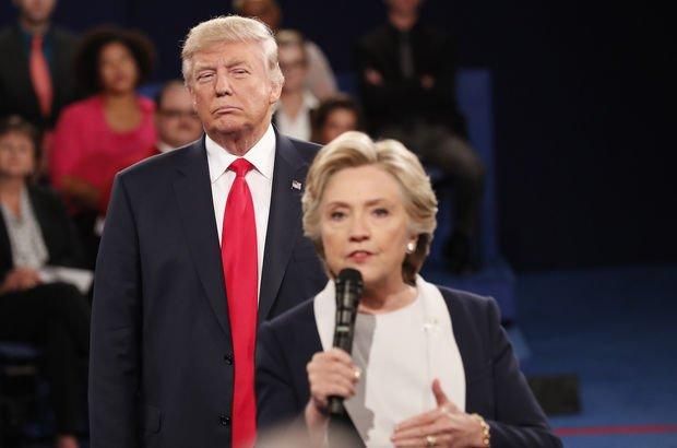 Hillary Clinton: Trump yüzünden tüylerim diken diken oldu