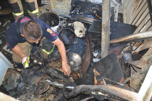 Aliağa'da yangın dehşeti