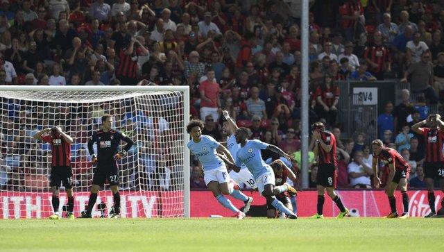 manchester city bournemouth'u 2-1 mağlup etti.