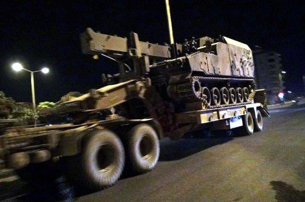Kilis'in Suriye Afrin sınırına askeri sevkiyat yapıldı