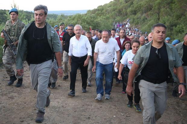 Kılıçdaroğlu Conkbayırı'na yürüdü
