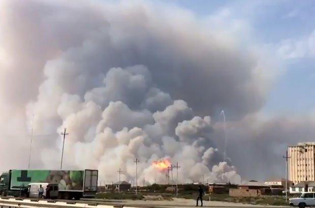 Azerbaycan'da askeri birlikte patlama