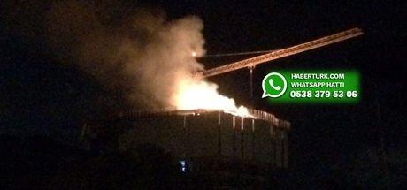 Beykoz'da inşaat halindeki binada yangın çıktı!
