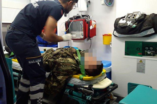 Ardahan'da askeri araç kaza yaptı: 2 asker yaralı
