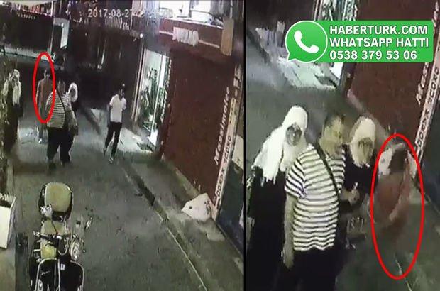 İstanbul'da turiste kapkaç anı kamerada