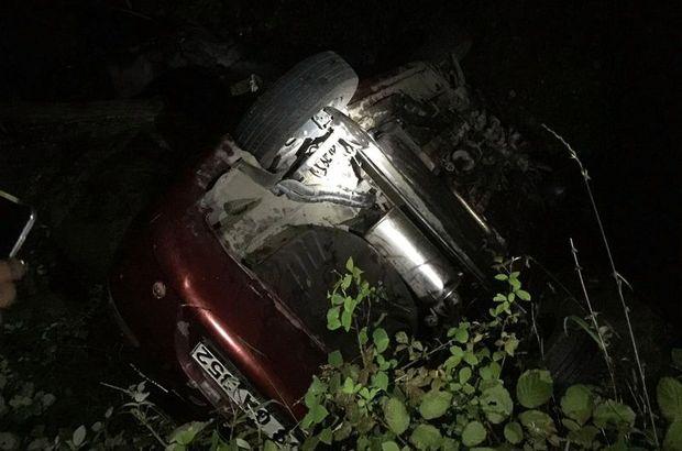 Rize'de otomobil dereye uçtu: 5 yaralı