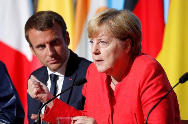 Emmanuel Macron ve Angela Merkel'den Rusya ve Ukrayna'ya çağrı