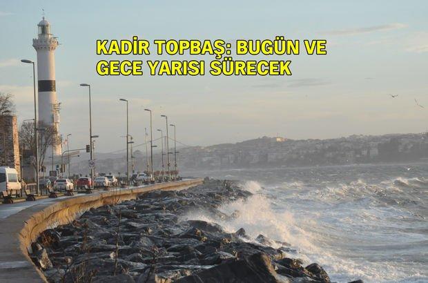İstanbul için 'fırtına' uyarısı: Teyakkuz durumundayız