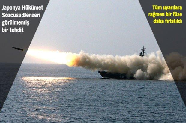 Kuzey Kore'den Japonya'ya füze denemesi!