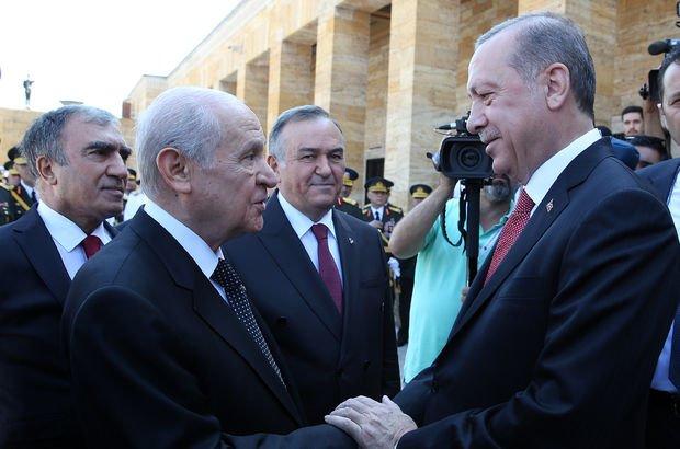 Cumhurbaşkanı Erdoğan ve Bahçeli arasında samimi diyalog