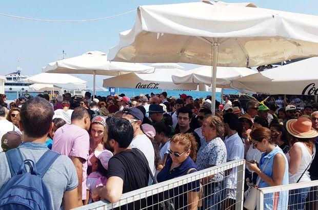Yunanistan'ın İstanköy adasına geçmek isteyen turistlerin tatili çileye dönüştü