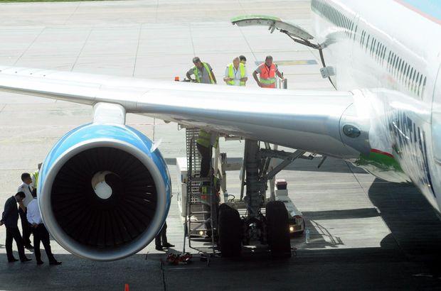 İstanbul'a gelen Özbek uçağı kalkışta tehlike atlattı