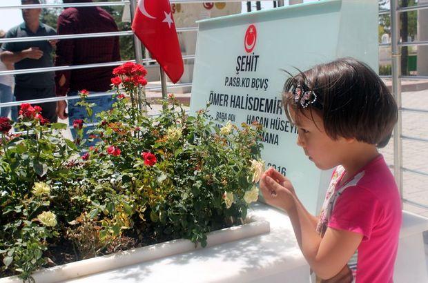 Kahraman Astsubay Halisdemir'in kabrine ziyaretçi akını