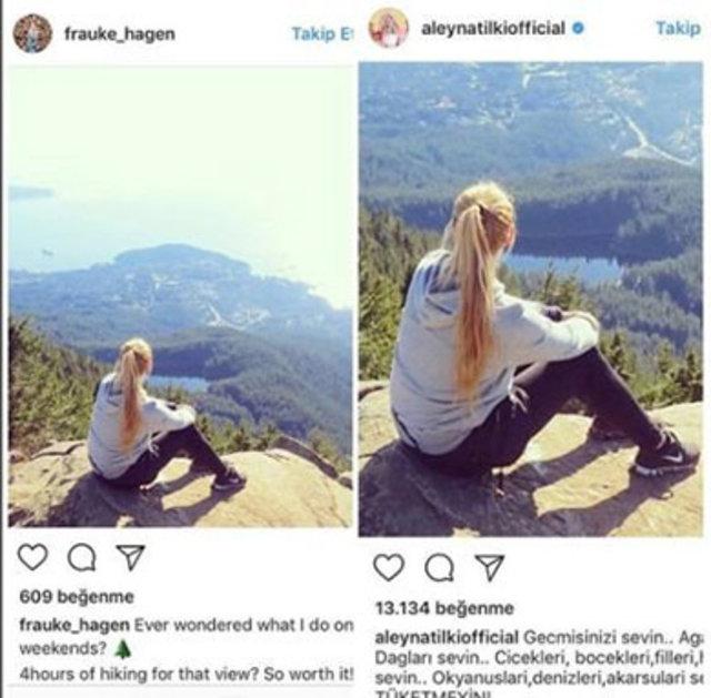 Aleyna Tilki o fotoğrafla herkesi kandırmış