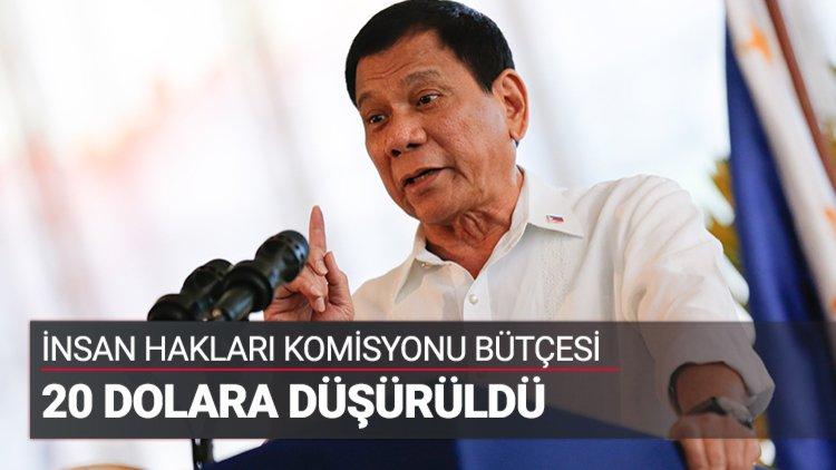 Filipinler'de İnsan Hakları Komisyonunun (CHR) bütçesi, 14,69 milyon dolardan 20 dolara düşürüldü.