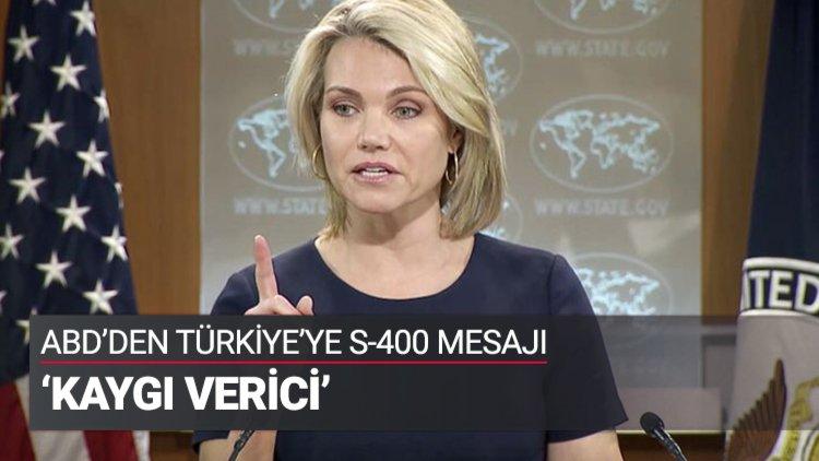 ABD Dışişleri Bakanlığı Sözcüsü Heather Nauert, Türkiye ve Rusya arasındaki S-400 füze savunma sistemi alımı görüşmelerine ilişkin kritik açıklamalarda bulundu.