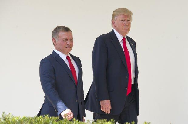 Ürdün Kralı, Trump'ın Filistin meselesine çözüm bulmaya çalıştığını söyledi.