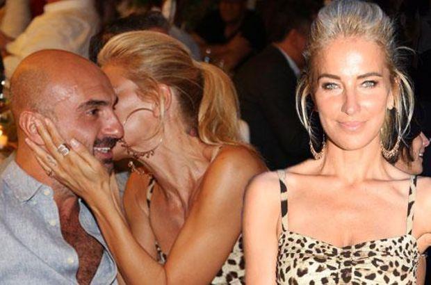 Burcu Esmersoy sevgilisini öpücüğe boğdu