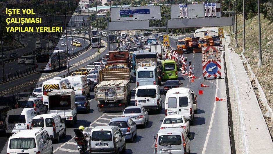 2017-2018 Eğitim Öğretim Yılı Okul servisi İstanbul trafik yol çalışması