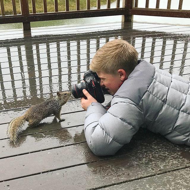 Kimse bu fotoğrafları onun çektiğine inanamıyor