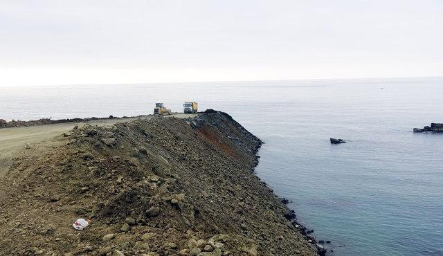 Rize-Artvin Havalimanı için deniz dolgusuna başlandı