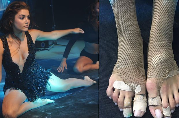 Hande Erçel'in ayakları olay oldu