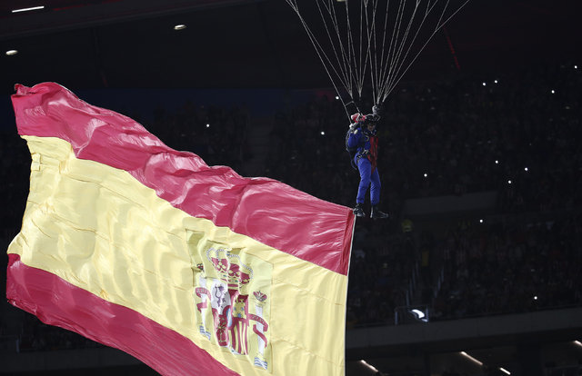 Atletico Madrid'in yeni stadı Wanda Metropolitano görkemli bir şölenle açıldı!