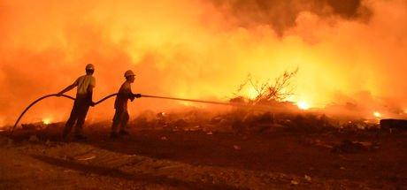Bodrum'da feci yangın!