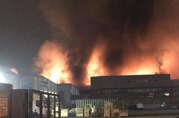 İngiltere Tottenham'da korkutan yangın!