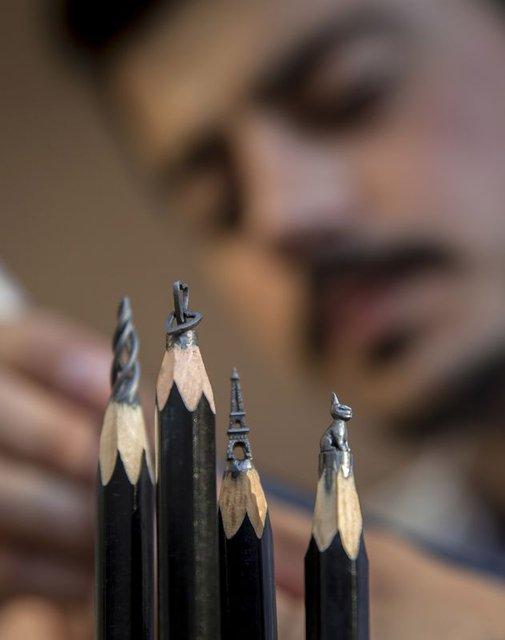 Nihat Özcan'dan kalem ucunda sanat