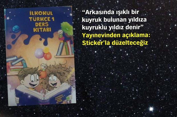 İlkokul Türkçe 1 ders kitabında 'yıldız' kayması