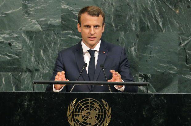 Fransa Cumhurbaşkanı Macron, BM Genel Kurulu'na hitap etti