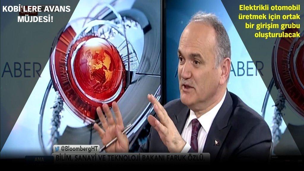 Bilim Sanayi ve Teknoloji Bakanı Faruk Özlü, Bloomberg HT'de konuşuyor