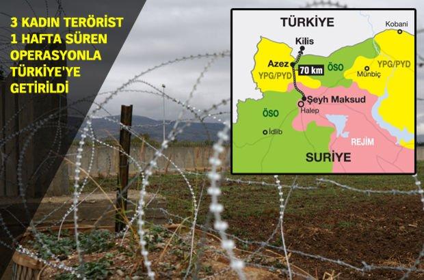 PYD/YPG Kilis Suriye MİT Emniyet Müdürlüğü