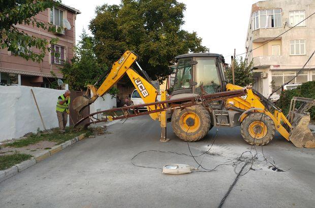 Arnavutköy'de  Hafriyat kamyonu ortalığı savaş alanına çevirdi
