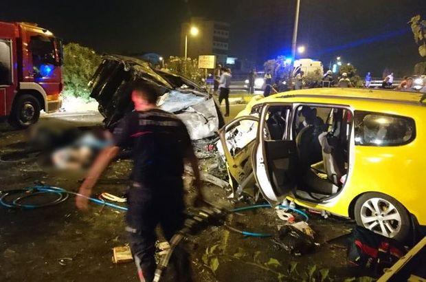 Antalya'da feci kaza: 4 ölü, 4'ü turist 5 yaralı