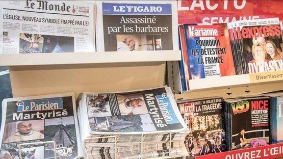 Fransızlar bugün gazete okuyamadı