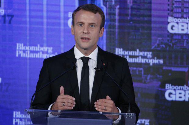 Fransa Cumhurbaşkanı Emmanuel Macron'dan, Barzani'ye referandum talebi