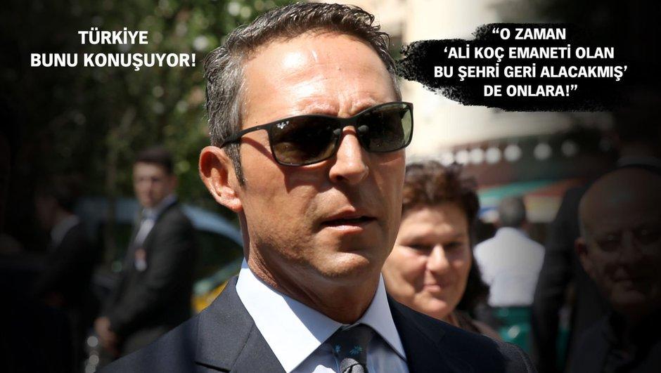 """Ali Koç başkan Fenerbahçe şampiyon!"""