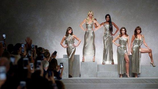 'Altın kızlar' podyumda yeniden bir arada